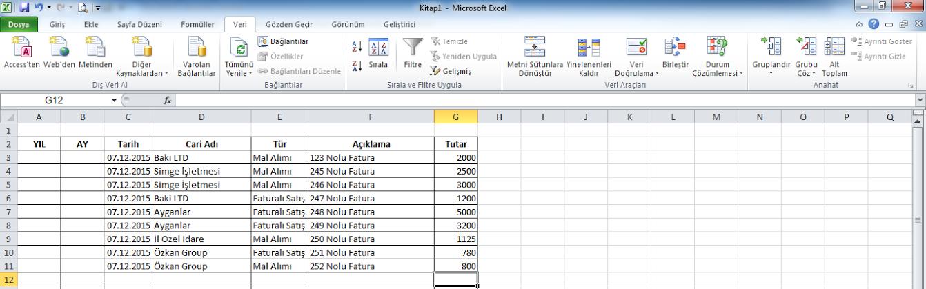 Excel Stok Programı ve Devreden Stoklar